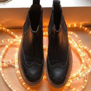Grenson Platform Leather Boots